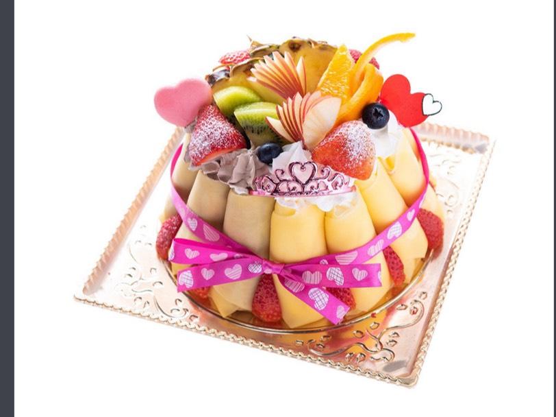 フルーツクレープケーキ